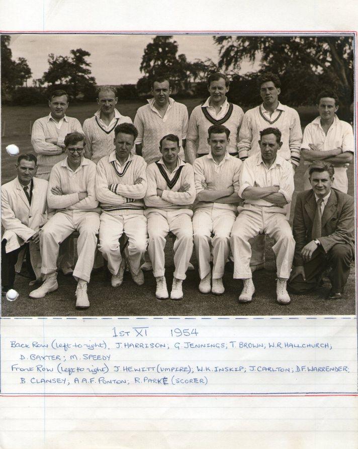 1954 First XI